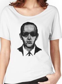 D.B. Cooper - Black and White [Use on LIGHT GREY SHIRT] Women's Relaxed Fit T-Shirt