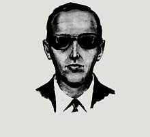 D.B. Cooper - Black and White [Use on LIGHT GREY SHIRT] Unisex T-Shirt
