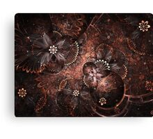 Warm Blooms - Abstract Fractal Artwork Canvas Print