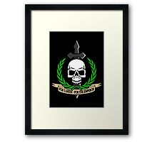For Tanith - For The Emperor!  Framed Print
