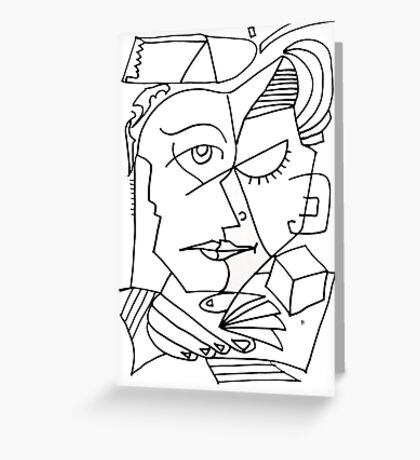After Picasso B17 Greeting Card