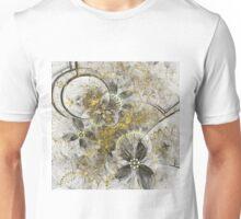 Golden Flowers - Abstract Fractal Artwork Unisex T-Shirt