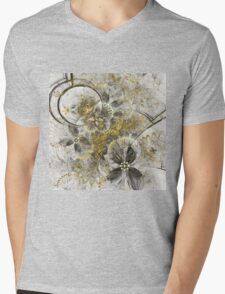 Golden Flowers - Abstract Fractal Artwork Mens V-Neck T-Shirt