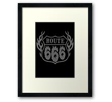 Route 666 design Framed Print