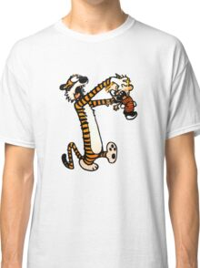 Zombie Fight Calvin And Hobbes Classic T-Shirt