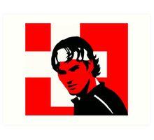 Roger Federer  - Transparent (Official Genius Banner Design) Art Print