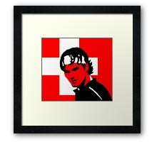 Roger Federer  - Transparent (Official Genius Banner Design) Framed Print