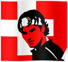 Roger Federer  - Transparent (Official Genius Banner Design) Poster