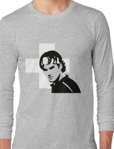 Roger Federer  - Transparent (Official Genius Banner Design) Long Sleeve T-Shirt