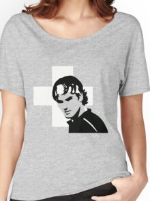 Roger Federer  - Transparent (Official Genius Banner Design) Women's Relaxed Fit T-Shirt
