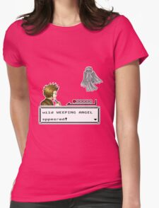 Weeping Angel Appeared! Womens Fitted T-Shirt