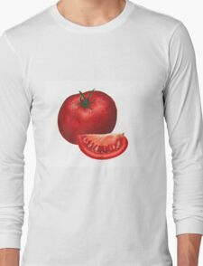 A beautiful tomato drawing Long Sleeve T-Shirt