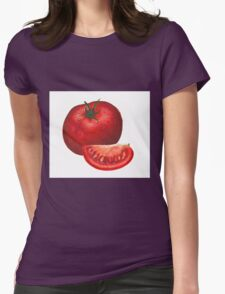 A beautiful tomato drawing Womens Fitted T-Shirt