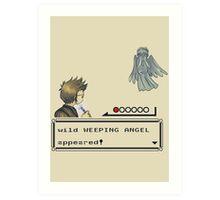 Weeping Angel Appeared! Art Print