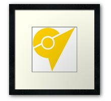 Pokemon Go Yellow Team Instinct Framed Print