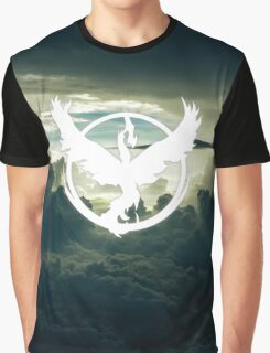 Pokemon GO - Team Valor - Moltres above the clouds Graphic T-Shirt
