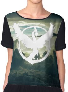 Pokemon GO - Team Valor - Moltres above the clouds Chiffon Top