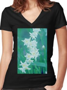 Spring is in the Air Women's Fitted V-Neck T-Shirt