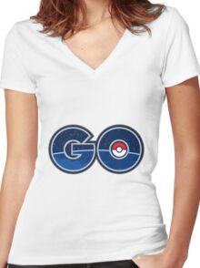 GO Women's Fitted V-Neck T-Shirt
