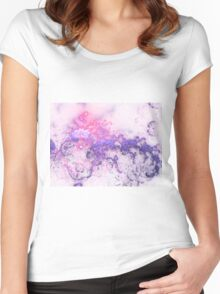 Sunset Clouds - Abstract Fractal Artwork Women's Fitted Scoop T-Shirt
