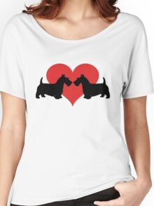 Scottish Terriers Women's Relaxed Fit T-Shirt