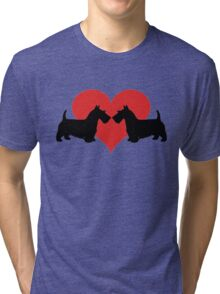 Scottish Terriers Tri-blend T-Shirt