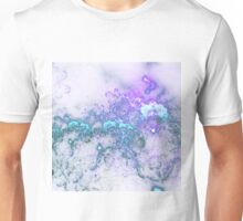 Blue Clouds - Abstract Fractal Artwork Unisex T-Shirt