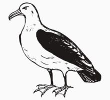 A beautiful seagull drawing Kids Tee