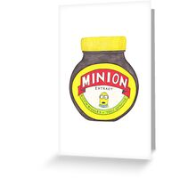 Minion Marmite Greeting Card