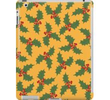 Holly on a gold background iPad Case/Skin