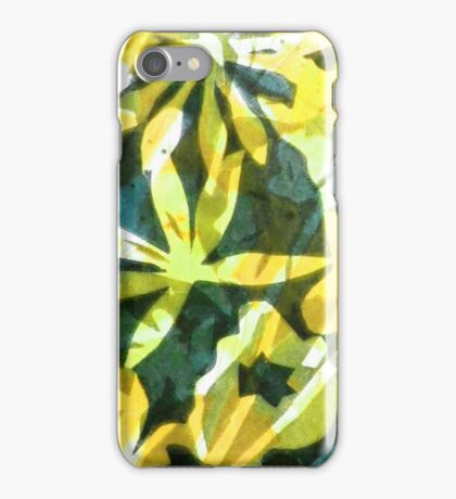 Lemon and Green Flower Pattern iPhone Case/Skin