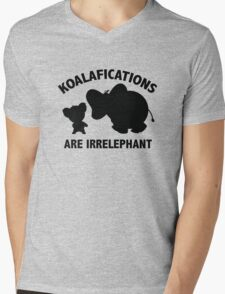 Koalifications Are Irrelephant Mens V-Neck T-Shirt