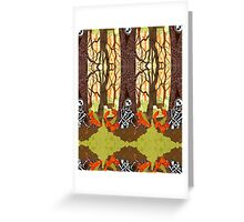 Fox Grave Greeting Card
