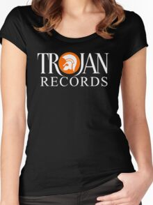 TROJAN RECORDS ORIGINAL LOGO Women's Fitted Scoop T-Shirt