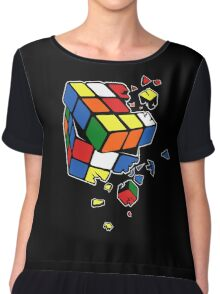 Exploding Cube Chiffon Top