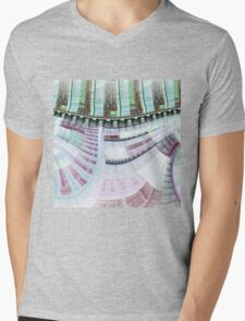 Steampunk Clockwork - Abstract Fractal Artwork Mens V-Neck T-Shirt