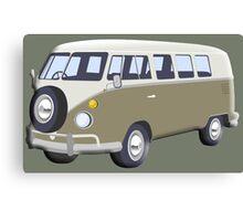 CAMPER VAN, Volkswagen Van, Camper, Split screen, 1966 Volkswagen, Kombi (North America) Canvas Print