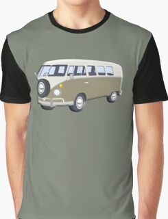 CAMPER VAN, Volkswagen Van, Camper, Split screen, 1966 Volkswagen, Kombi (North America) Graphic T-Shirt