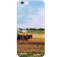Amish at work iPhone Case/Skin
