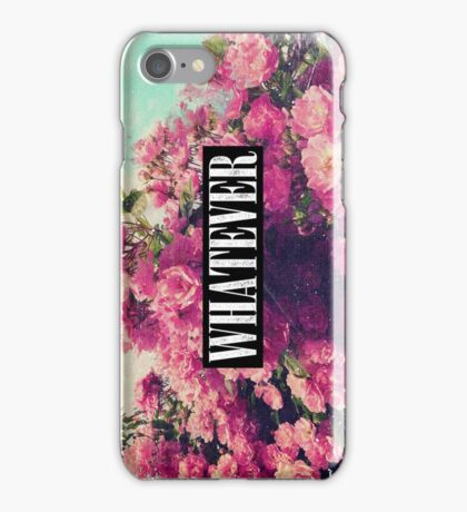 Cool Girly Pink Roses Grunge Vintage Whatever  iPhone Case/Skin