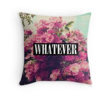 Cool Girly Pink Roses Grunge Vintage Whatever  Throw Pillow
