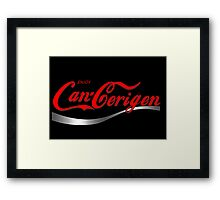 Enjoy Can-Cerigen - black Framed Print