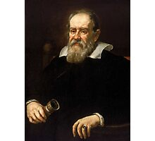 Galileo Galilei - Astronomer and Mathematician Photographic Print