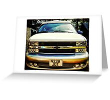 Chevy Astro Greeting Card