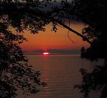 September sunset by Janet Gosselin