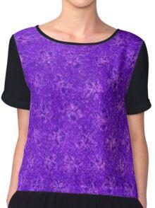 Vintage Floral Purple Grape Chiffon Top