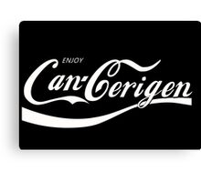 Enjoy Can-Cerigen - red Canvas Print