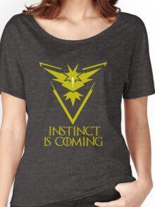 Pokemon Go Team Instinct Is Coming (GOT) Women's Relaxed Fit T-Shirt