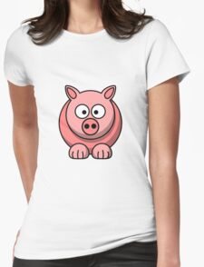 A funny pig drawing Womens Fitted T-Shirt