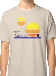Tatooine Sunset Vintage 80s Design Style Classic T-Shirt